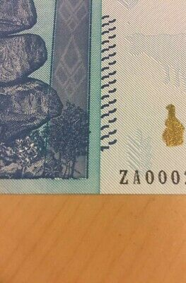 MAKE OFFER~Zimbabwe 100 Trillion D.($) ZA 2008 UNC REPLACEMENT/STAR NOTE~BEST P