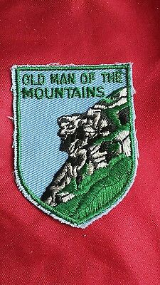 Old Man Of The MOUNTAINS N.H. patch New Hampshire new
