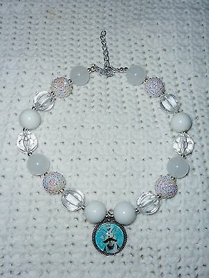 NEW CUSTOM BOUTIQUE DISNEY FROZEN Olaf Chunky Beaded Necklace