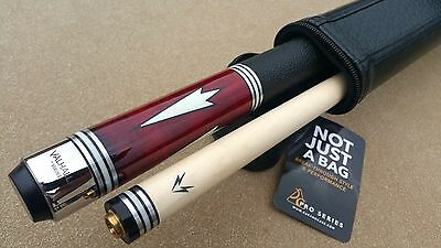New Viking Valhalla Pool Cue  VA902 Leather Wrap White & Stainless Steel Rings!