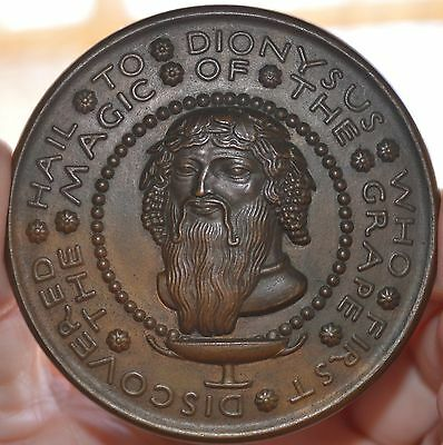 Rare Society Of Medallists 1930 Issue  #2 Hail To Dionysus Bronze Medal 72Mm