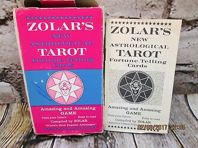 Vintage 1965 ZOLAR'S Official Fortune Telling Cards Tarot New Astrological Game
