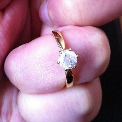 18k/ 18ct Gold &1 Carat Diamond Ring Size Q