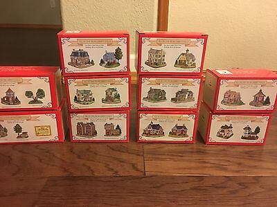 Liberty Falls Lot Of 10 boxes (22 houses and trees) 1999