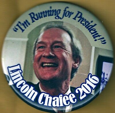 Lincoln Chafee for President 2016 Presidential Campaign Button