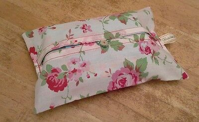 "Cath Kidston White Floral ""rosali"" Fabric Handmade Baby Wet Wipes Cover Holder"