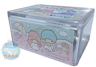 NEW! SANRIO Little Twin Stars KAWAII Square Pile Up Case S SINGLE ITEM JAPAN