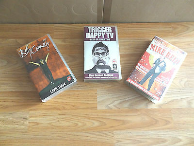 Joblot of 3 video tape cassettes Billy Connolly 1994 trigger happy TV Mike Reid