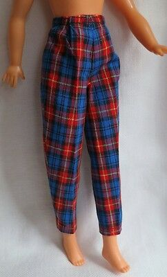 1960s Tammy Pants Red Plad Slacks Carded Item #9223-9 Tagged. Excellent Example!