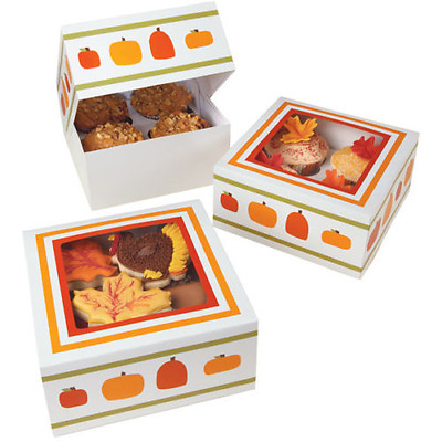 Wilton Cupcake Boxes - Pumpkin Patch - Holds 4