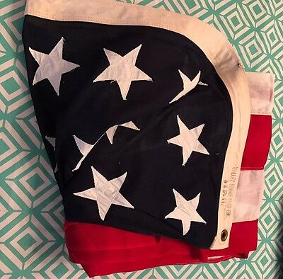 WWII AMERICAN FLAG BEST VALLEY FORGE VINTAGE COTTON  48  STARS USA  9.5' x 5'