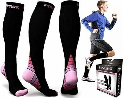 Compression Socks For Men and Women, BEST Graduated Athletic Fit For Running, -