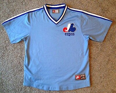 Montreal Expos Large Cooperstown Collection Jersey Light Blue Nike