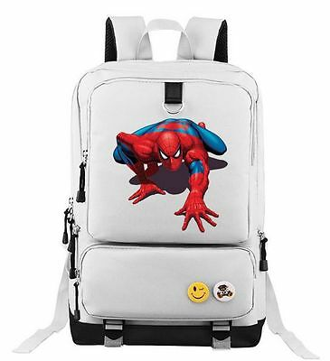 Spiderman Backpack School Bag Children Student Boys Girls