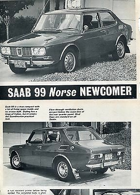 1970 Saab 99  6 Page Road Test Article