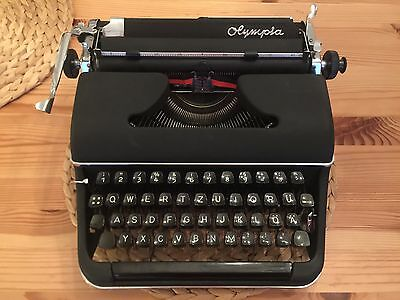 OLYMPIA SM2 grey grau - 1951  - Portable Schreibmaschine typewriter antik retro
