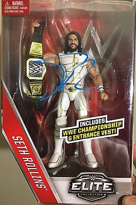 Seth Rollins Signed Wwe Mattel Elite Toy Figure The Shield Autograph