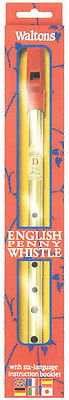 "WALTONS ""English"" tin whistle. Deluxe brass whistle with instruction leaflet"