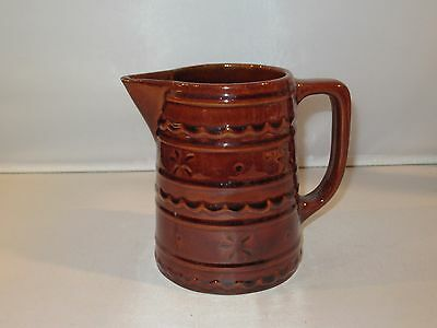 Vintage MARCREST DAISY DOT Stoneware Brown Pitcher