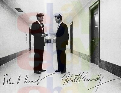 REPRINT RP 8x10 Signed Autographed Photo: President John F and Robert Kennedy