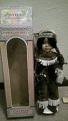 cathay collection 15 inch american indian doll