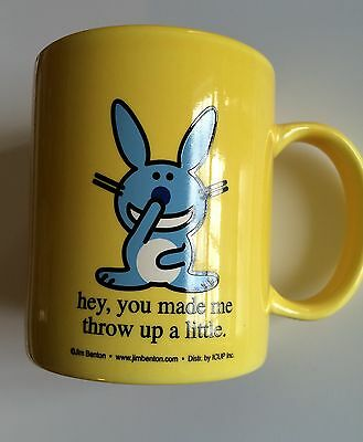 Happy Rabbit Hey You Made Me Throw Up A Little Mug Cup Coffee Tea Benton