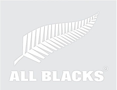 New Zealand All Blacks Rugby Team White Mega Decal Stickers * Great on Cars!
