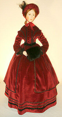 """FOR 24"""" 36 inch Doll 1850 Victorian Winter DressCoat Sewing Pattern # 21-36"""