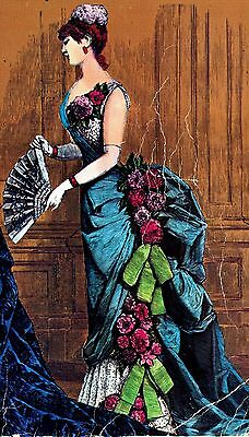"""1882 Ball Gown Sewing Pattern for a 24"""" Doll Lady Marion & Other Dolls #33-24"""