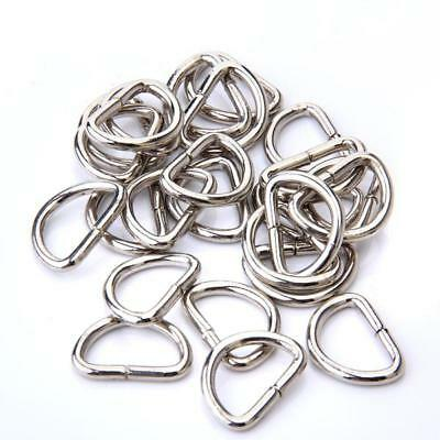 Nickle Plated Dee Ring D Ring for Webbing Strapping