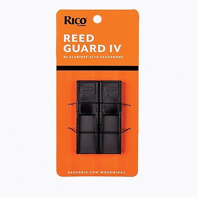 RICO - Reed Gard IV. Plastic reed holder. Holds 4 reeds. Clarinet/Alto Sax
