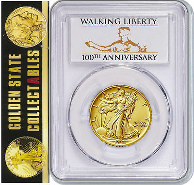 2016 W Walking Liberty Centennial Gold Coin PCGS SP70  F.S.+ BOX/CERT LIVE!