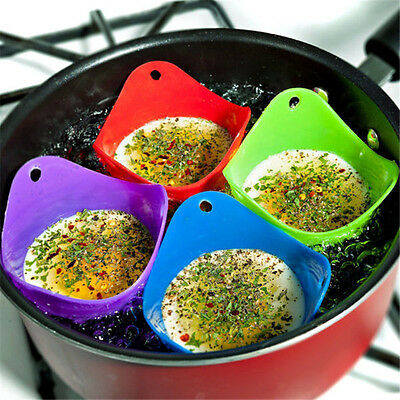 Useful 1 Pc Nice Bowl Shape Mold Silicone Egg Poachers Kitchen Cooking Tools