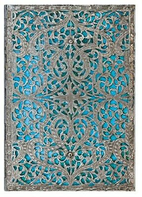 "Paperblanks ADDRESS BOOK Silver Filigree ""Maya Blue"" Midi 5""x7"" New"
