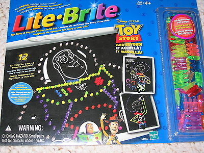New Lite Brite Disney Pixar Toy Story Picture Refill Set 12 Sheets Extra Pegs