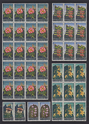 "San Marino ""Flowers"" - 99 MUH Stamps (3 pages)"
