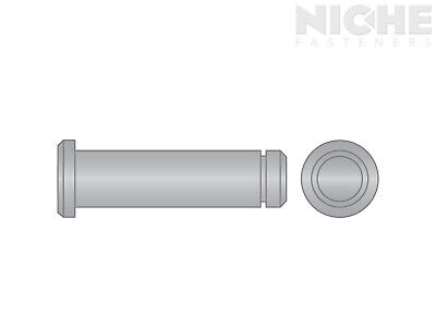 Clevis Pin Grooved 1/2 x 2 300 Stainless Steel (8 Pieces)
