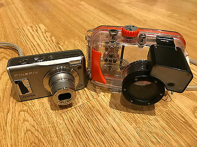 Fujifilm Finepix F31fd camera & WP-FXF30 Waterproof Diving Underwater Housing