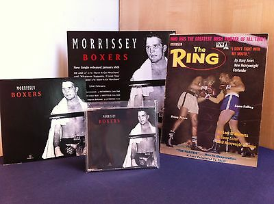"Morrissey Boxers 'Collectors Pack' Promo CD, 7"" Vinyl, 12"" Display & Ring Mag"