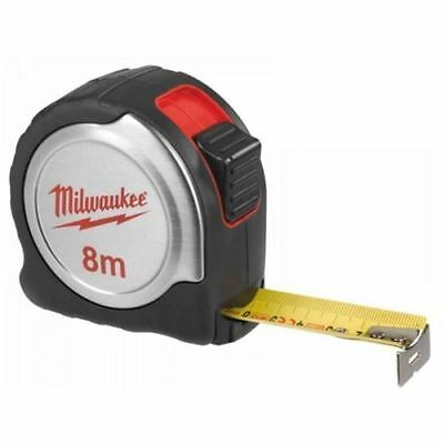 Milwaukee 4932451640 8 Meter Compact Tape Measure Silver C8/25 8m Metric New