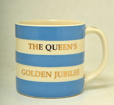 Cornish Ware Queen's Golden Jubilee Large 15Oz  Mug In Gold Letteri