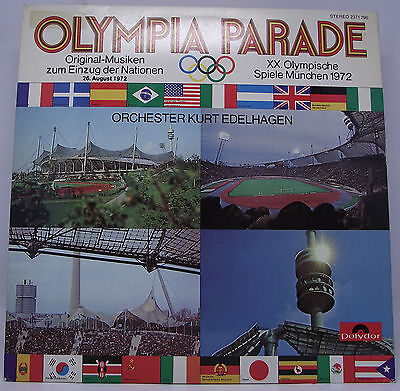 "OLYMPIA PARADE Munich 1972 Olympic Games Vinyl LP 12"" 33rpm Excellent"