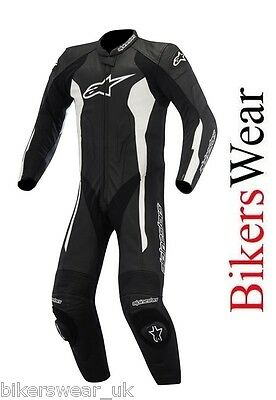 Alpinestars Challenger Leather 1 one Piece Motorcycle Suit BLACK Free postage