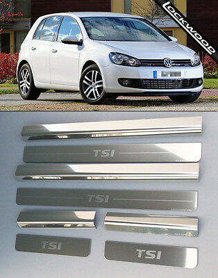 VW Golf Mk6 TSI  4 Door Sill Protectors / Kick plates (2009- early 2013)