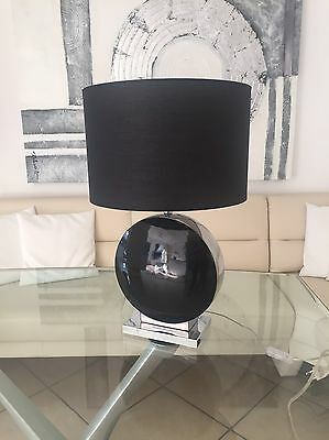 Honsel tischlampe h he 60cm schwarz chrome neu for Lampen neu isenburg