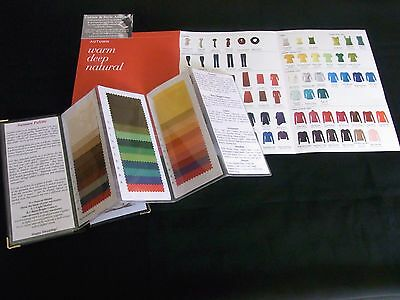 Colour Analysis Color Me Beautiful AUTUMN/SPRING/SUMMER/WINTER fabric swatch