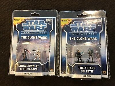 Star Wars Miniatures The Clone Wars The attack on Teth & Showdown 2 Map Packs
