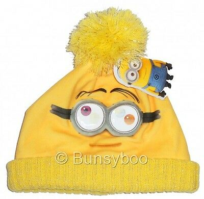 Despicable Me Minions Infant Fleece Winter Hat Lenticular Effect Moving Eyes