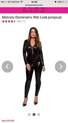 Wet Look Jump Suit Ann Summers Size 20/22 New