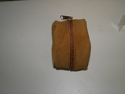 "Fishing reel case 4"" suede/brushed pig skin reel cases, center pin/fly reel"
